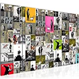 Runa Art Murali XXL Collage Banksy 200 x 80 cm Colorato 5 Pezzi - Made in Germany - 302755a
