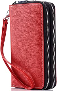 LDUNDUN-BAG, 2019 Cross Leather Clutch Clutch Leather Coin Purse Multifunction Mobile Phone Bag Small Ladies Key Case (Color : Red, Size : S)