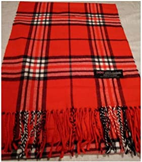 9Proud Red Scarf Check Plaid Scotland Winter Cute Women Men - A92