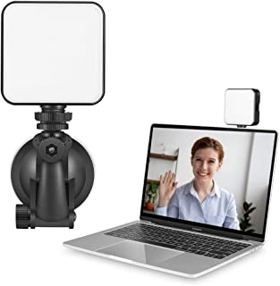 Video Conference Lighting Kit Adjustable Rechargeable LED Photography Fill Light Zoom Meeting Lighting for MacBook iPad La...