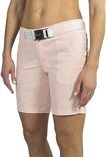 Belted Golf Short- Papaya Seersucker