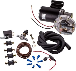 "maXpeedingrods Electric Vacuum Pump Kit Set for Brake Booster 12 Volt 18"" to 22"" 28146"