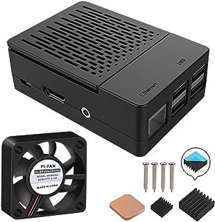 GeeekPi Funda para Raspberry Pi 3 Modelo B+ (B Plus), con Ventilador de refrigeración y disipadores térmicos 3PCS para Ras...