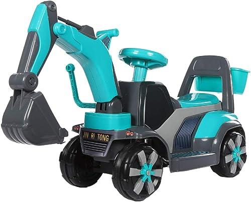 Xiaomei Spielzeugbagger voll ausgestatteter Kunststoff kann auf Kinder sitzen und hin und her bewegen (Farbe   B)