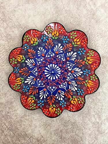 IstanbulArtWorkshop 7'' Decorative Turkish Tile Trivet, Ceramic Trivet, Ceramic Tile Coaster, Pot Trivet, Kitchen Trivet, Table Trivet, Hot Pad, Kitchen Decor