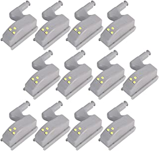 COSORO Hinge LED Sensor Light For Kitchen Cabinet Cupboard Closet Night Lights, Living Room/Bedroom/Wardrobe Night Lights (12Pcs)