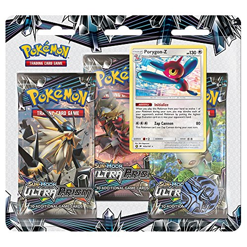 Pokemon TCG: Sun & Moon Ultra Prism- Porygon-Z   Includes 3 Ultra Prism Blister Packs, 1 Holofoil Promo Porygon-Z Card   Total of 31 Authentic Pokemon Cards