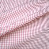 Stoff am Stück Stoff Baumwolle Vichy Karo groß rosa weiß