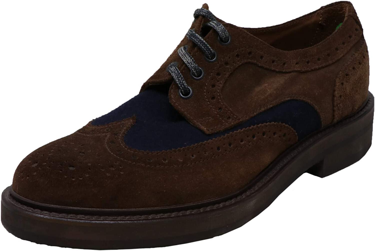 Eleventy Men's Low Heel Oxford Shoe Leather Ankle-High Suede