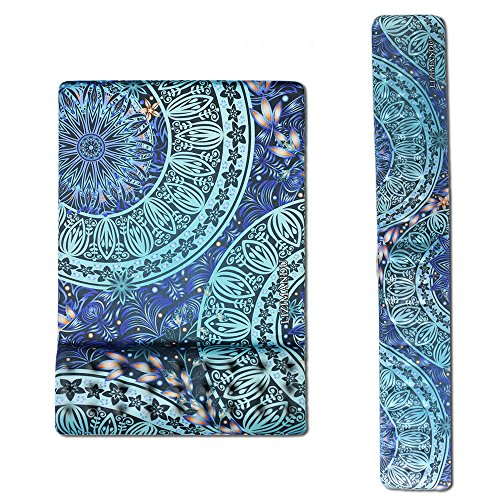 Cheliz Memory Foam Non Slip Mouse Pad Wrist Rest - Durable & Comfortable & Lightweight for Easy Typing & Pain Relief-Ergonomic Support (2-Green Flower)
