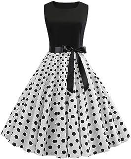 DISSA S9933 Women Vintage Silk Dress Sleeveless Knee-Long Cocktail Plus Size Dress