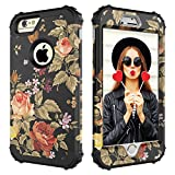 Case for iPhone 6 Plus,Case for iPhone 6S Plus,Digital Hutty 3 in 1 Shockproof Heavy Duty Full-Body Protective Cover for Apple iPhone 6 Plus,iPhone 6S Plus Flower