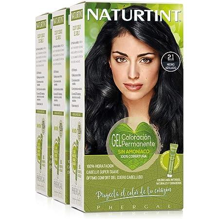 Naturtint Coloración 2.1 Negro Azulado, 100% Cobertura de canas y Hidratación, Ingredientes Vegetales y Aceites 100% Biobotánicos, Color Natural y ...