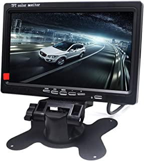 Padarsey 7 Inch LED Backlight TFT LCD Monitor for Car Rearview Cameras, Car DVD, Serveillance Camera, STB, Satellite Recei...