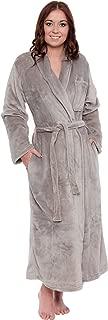 Silver Lilly Women's Full Length Luxury Long Bathrobe - Soft Plush Comfy Long Robe (Sizes Small - Plus Size XXL)