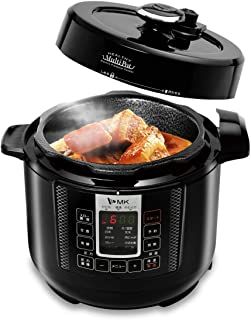 MK精工 電気圧力鍋 レシピ付き マルチポット 2L ほったらかし 時短 炊飯器 甘酒 発酵 パン ヨーグルト 蒸し調理 ブラック