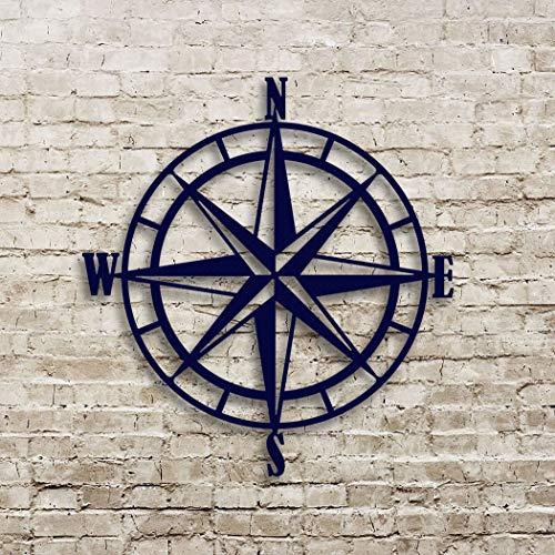Nautical Compass Rose Metal Wall Art