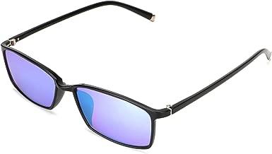 STBJ Color Blind Glasses for Men and Women with Red-Green Blindness, Color Vision Disorder, Color Weakness, Purple Blue Lens,Fullframe