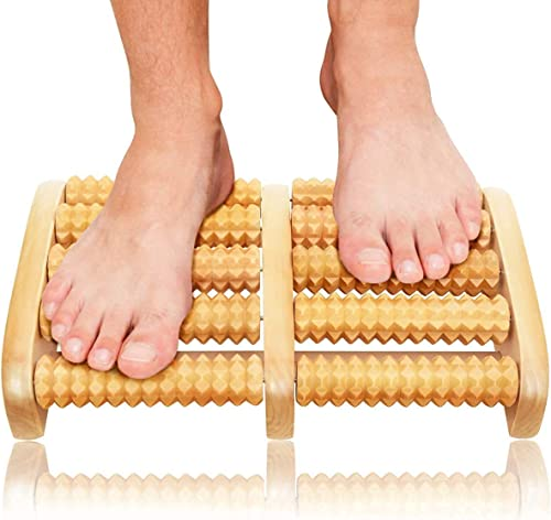 ZDIPE Wooden Roller Foot Massager Body Stress Buster Accupressure Point Device Relaxation Health Care Product foot massager and Legs Pain Relief Massager