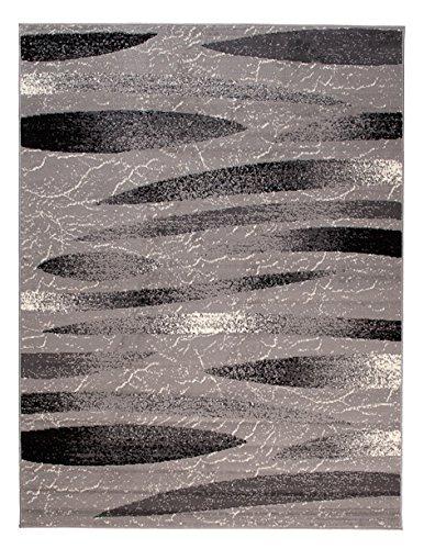 Carpeto Rugs Tapis Salon Gris 300 x 400 cm Moderne Geometrique/Monaco Collection