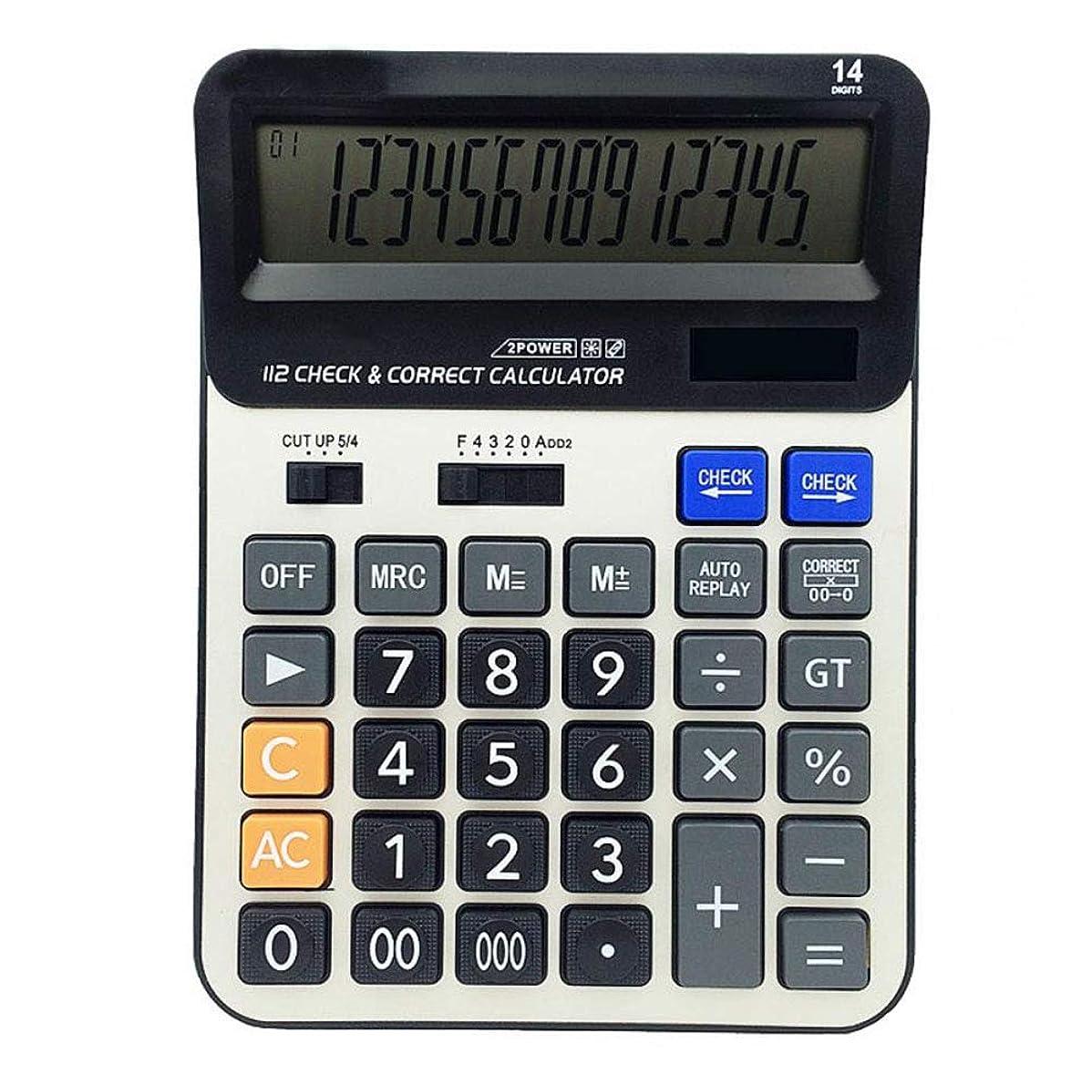 車両アラブ革新電卓 14ビット大画面 デュアルパワー コンピューター 経済的 会計用 太陽電卓 アルミニウムパネル デスクトップ ビジネス 電卓