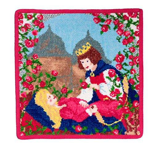 Feiler doornroeschen00480135, zeepdoek, doornroosjes, 25 x 25 cm, cerise