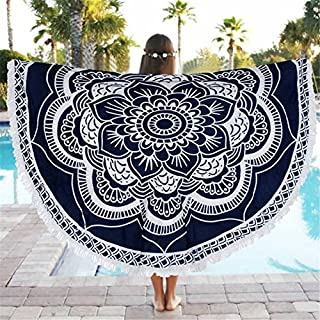 HYLong Round Beach Towel 150cm Polyester Beach Towel Adults Tablecloth Toalla Playa Mandala Serviette De Plage