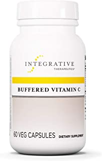 Integrative Therapeutics - Buffered Vitamin C 1,000mg - Antioxidant Support Supplement - Easy on Sensitive Stomach - 60 Buffered Vitamin C Capsules