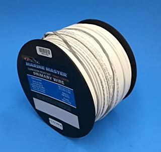 DEKA 14AWG WHITE Marine Tinned Copper Boat Stranded Wire 100 Feet Made in USA