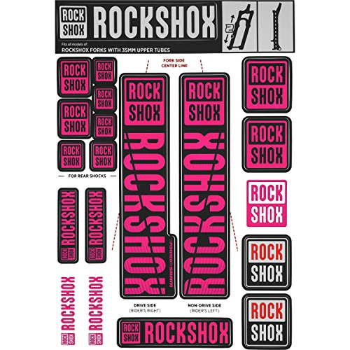 RockShox Aufklebersatz 35mm Magenta, Pike/Lyrik/Yari/Domain/Revelation, 11.4318.003.512 Ersatzteile, Standrohre