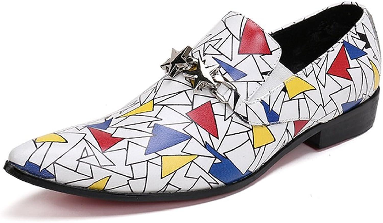 GFP Mans Mode skor Springaa Springaa Springaa Fall herrar läder skor Pointed skor Personlig hårfrisör Mans skor Nightclub Casual bröllop skor  rabattbutik