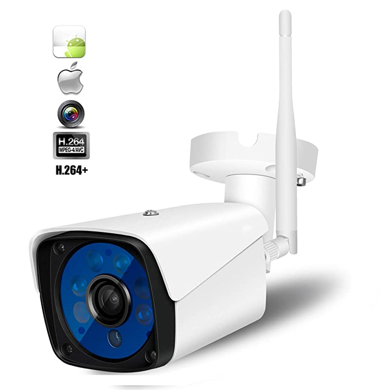 Love of Life Wireless Security Camera System, Smart Home HD Indoor Outdoor WiFi IP Cameras with Infrared Night Vision, Motion Detection with 16GB Memory Card,White gffrcmbt322693