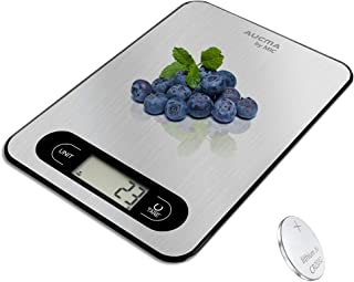 Kitchen Scales Digital Cooking Mini Food Weighing Scale High Accuracy 5kg/11lb 1oz/ 1g Pro Electronic Scale with LCD Displ...