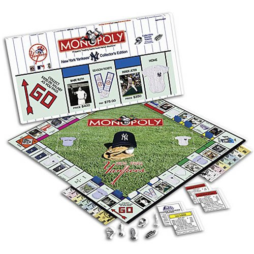Monopoly New York Yankees Property Trading Game ~ Collector's Edition by USAopoly