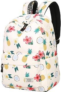 XHHWZB School Rucksack, Women Canvas Backpack, College Bookbag Lady Travel Backpack Fashion Floral Rose Waterproof