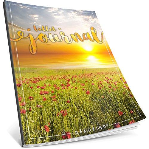 Dékokind® Bullet Journal: Ca. A4-Format • 100 Seiten, Punktraster Notizbuch mit Register • Dot Grid Notebook, Punktkariertes Papier, Skizzenbuch • ArtNr. 11 Sunset • Vintage Softcover