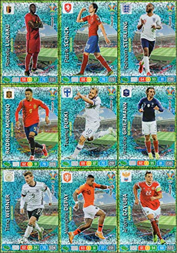 Panini Adrenalyn XL UEFA Euro 2020 Completo Set di Nove (9) Goal Macchina Carte #415 - #423