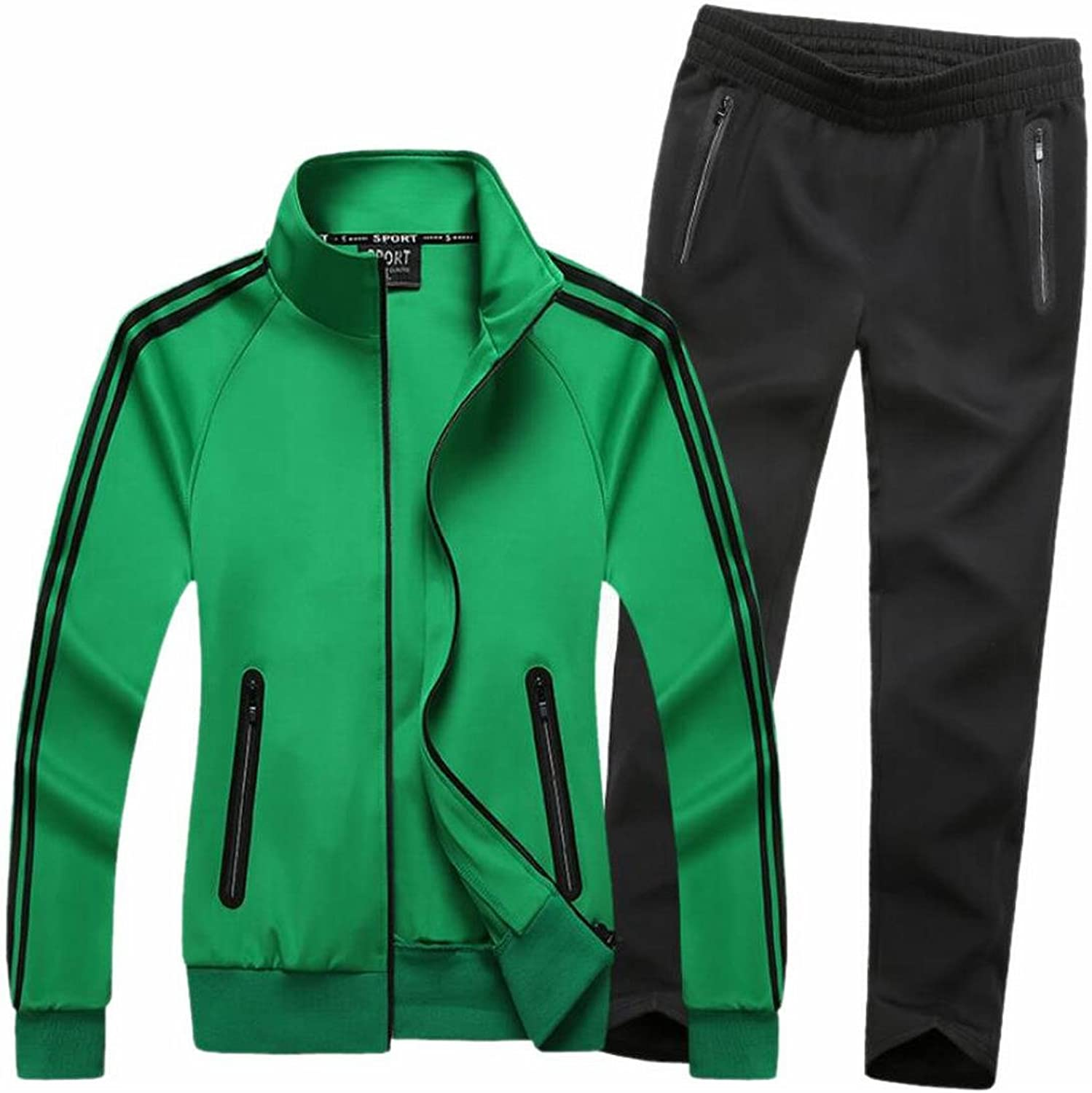 42c377f72d4bc7 GAGA Men's Fashion Sweatsuit Sweatsuit Sweatsuit Sports Zipper Up Jackets  Sweatpants Tracksuits 3d8ddc