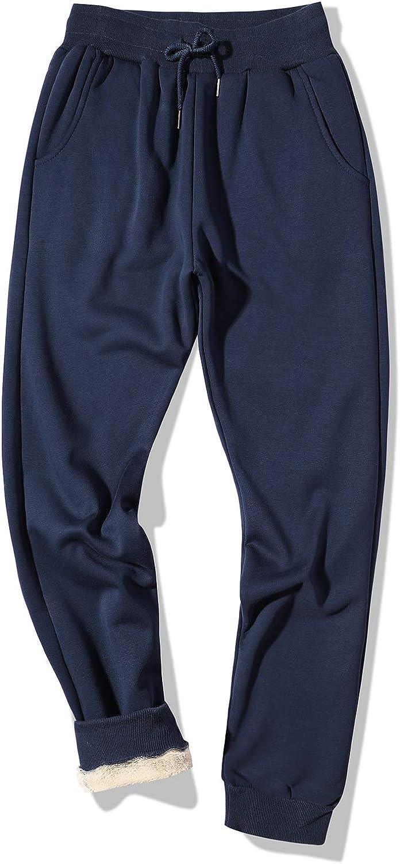 EKLENTSON Mens 4 years warranty Winter Fleece Pants Workout Sherpa Thermal Lined Choice