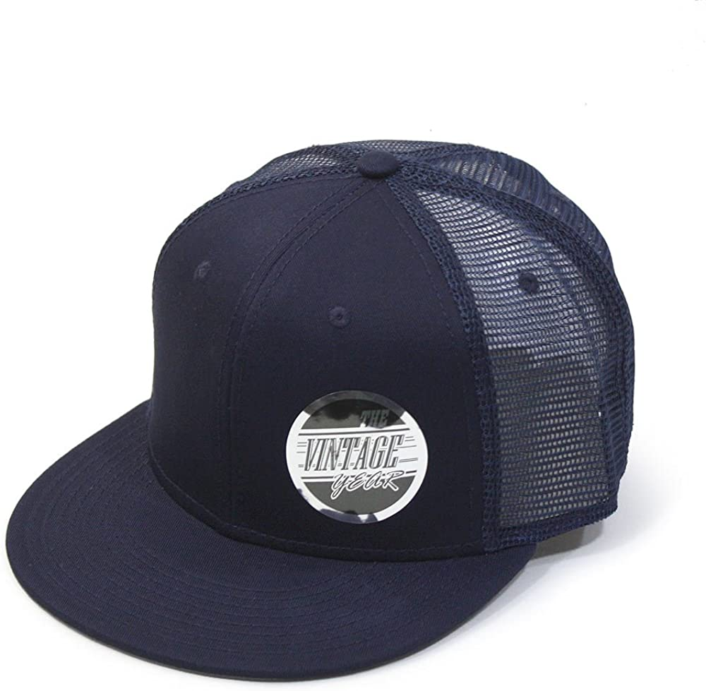 Time sale The Vintage Year Plain Cotton Twill Adjustable Sn Brim Mesh Flat Courier shipping free shipping