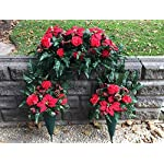 Christmas-Cemetery-Saddle-Side-Floral-Cones-Silk-Artificial-Flowers
