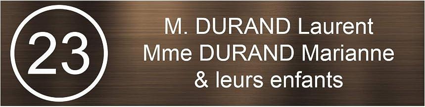 Zelfklevende pvc-brievenbusplaat, met cijfers, personaliseerbaar, 10 x 2,5 cm, verkrijgbaar in 21 kleuren (bronskleurig, w...