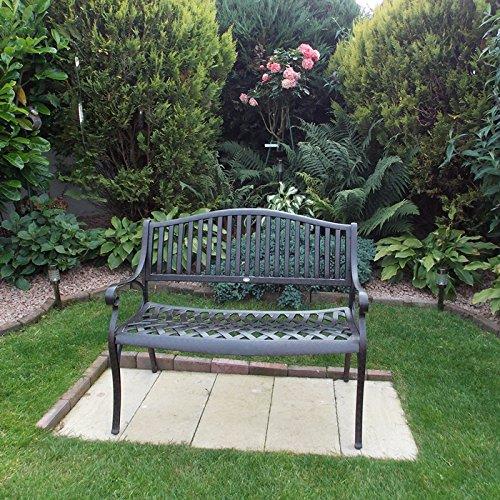 Lazy Susan Furniture – Grace Metall Gartenbank Antique Bronze (kein Kissen) - 2