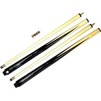 SGL - Juego de tacos de billar (2 tacos de 91,4 cm, se incluyen 4 ...