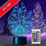 Holinox Star Wars Millennium Falcon 3D Lamp...