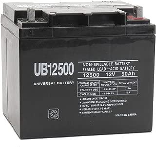 Universal Power Group 12V 50Ah SLA Mobility Scooter Battery UB12500 for Suntech Regent