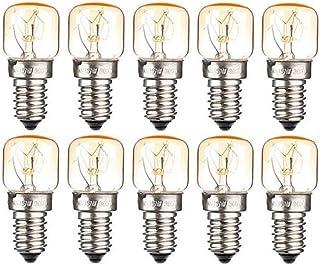 10xE14 Small Edison Screw Base, Salt Oven Lamp Globe Bulb Oven Light Bulbs up to 300 Degrees, Tungsten Light, 15W Incandes...