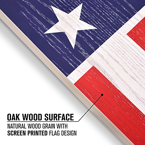 GoSports Regulation Size Solid Wood Cornhole Set - American Flag Design - Includes Two 4' x 2' Boards, 8 Bean Bags, Carrying Case and Game Rules
