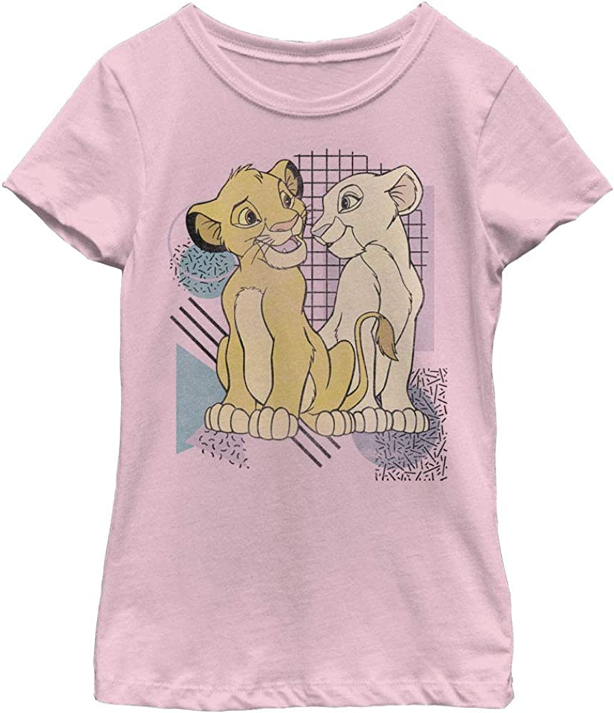 Disney Lion King Nostalgia Girl's Solid Crew Tee