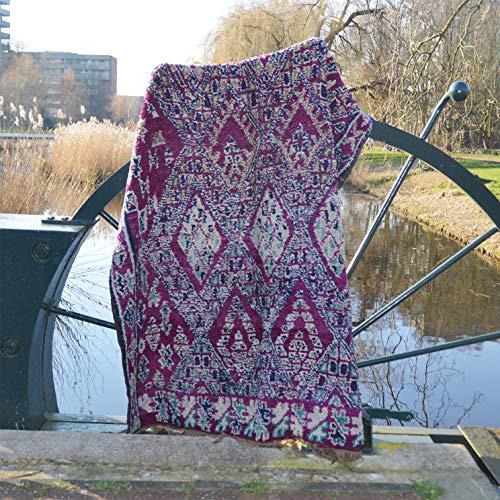Marokkaanse Beni Mguild Berber tapijt Oosterse tapijt - 100% handgeweven natuurlijk tribal wol tapijt - diamant vormen - 305 x 202